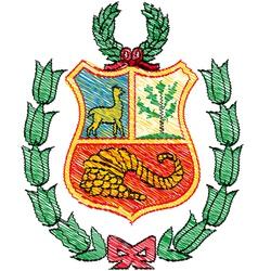 Peruvian coat of arms vector