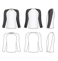Raglan sleeve t-shirt vector