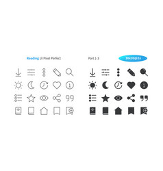 reading ui pixel perfect well-crafted thin vector image