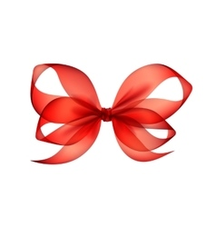 Red Transparent Bow Top View Close up Isolated vector image