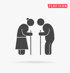Retired elderly senior age couple older people vector