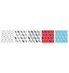 Rhombille tiling set vector