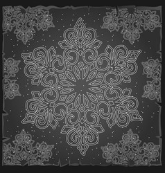 sample christmas wrapping paper gray color vector image