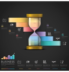Sandglass Money And Financial Business Staircase vector image