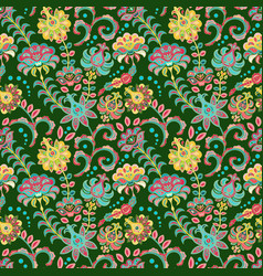 seamless floral backgroundcolorful flowers and vector image