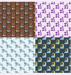 sleep icons seamless pattern vector image