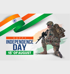 Soldiar 15th august background for happy vector