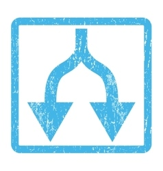Split Arrows Down Icon Rubber Stamp vector