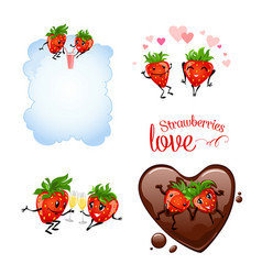 Strawberries love vector