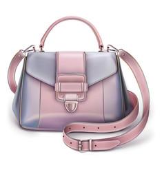 Stylish womens grey-pink handbag vector