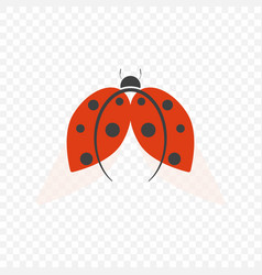 The logo of ladybug isolated on a transparent vector