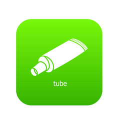 tube icon green vector image