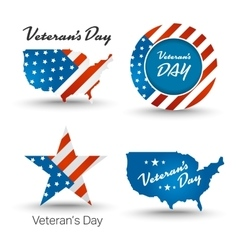 Veterans day badges vector