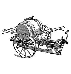 vintage engraving a butter churn vector image