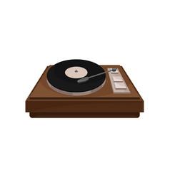 vintage gramophone retro vinyl player vector image