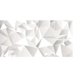 white crumpled abstract background low poly style vector image