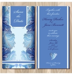 Winter frozen glass design Wedding invitation vector