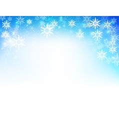 Winter snow fall with bokeh and lighting element vector image