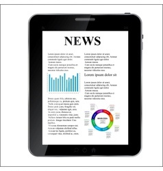 Abstract design Tablet with news concept vector image