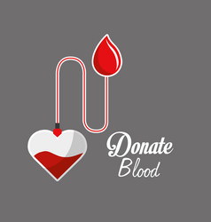 blood donation campaign icon vector image vector image