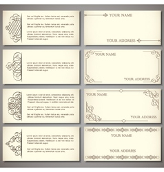 Collection elegant business card vector image vector image