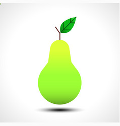 green pear isolated on white background vector image vector image