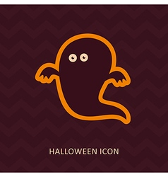 Halloween ghost silhouette icon vector