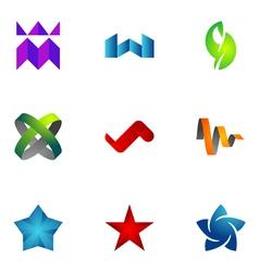 logo design elements set 73 vector image