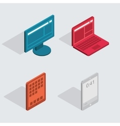modern flat icons set Computer tablet vector image