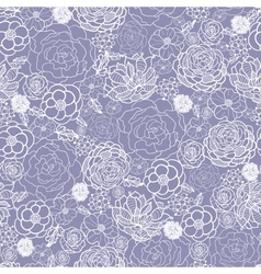 Purple lace flowers seamless pattern background vector image vector image