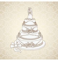 wedding cake vector image
