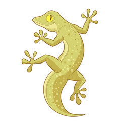 cartoon smiling gecko vector image
