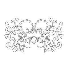 couple unicornco vector image vector image
