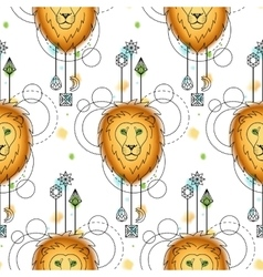 Loin Watercolor Seamless Pattern vector image vector image