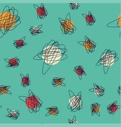 mid century seamless cirlce pattern vector image
