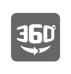 Panorama logo Full 360 degree rotation icon vector image