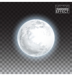 Realistic detailed full big moon isolated on vector image