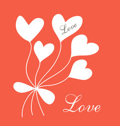 romantic postcard vector image