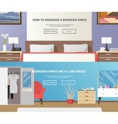 Bedroom Furniture Banner vector image vector image