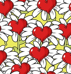 Flower of love seamless pattern Flower meadow vector image