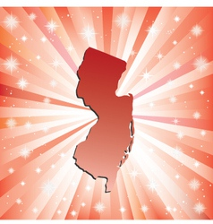 Red New Jersey vector image