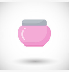 cosmetics bottle product flat icon vector image vector image