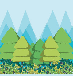 eco style life green forest vector image vector image
