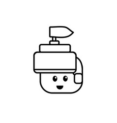 line warrior head character to video game vector image vector image
