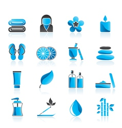Spa objects icons vector image