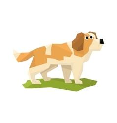 St bernard rescue dog vector