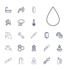22 drop icons vector