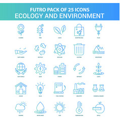 25 green and blue futuro ecology and enviroment vector