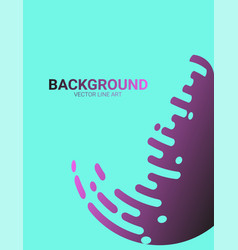abstract background with color rounded shapes vector image