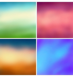 Abstract colorful blurred backgrounds set 2 vector